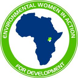 Blaue Landkarte von Afrika Freiwilligendienst EWAD