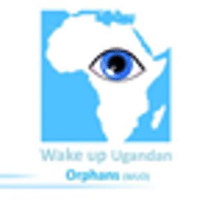 Afrika Landkarte mit Auge des Freiwilligendienstes WAKEUP
