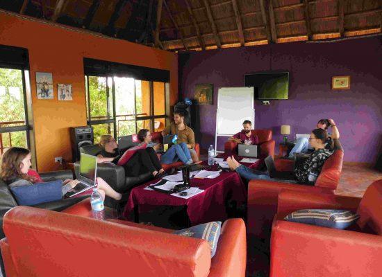 Arbeitsgruppe im Freiwilligendienst