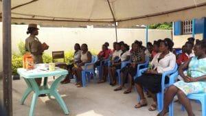 Afrikanische Frauengemeinschaft im Weltwaerts Projekt